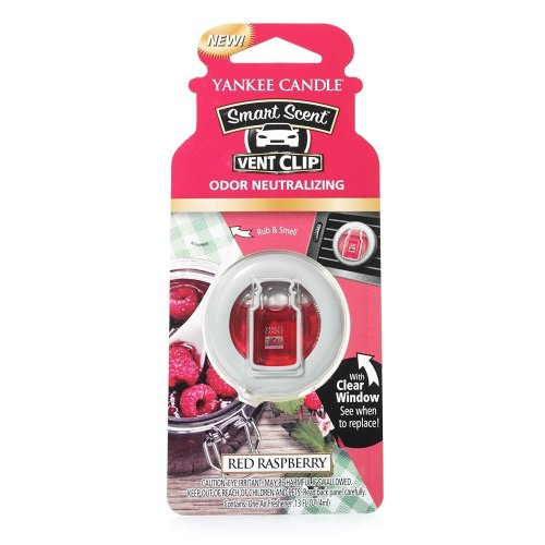 Yankee Candle Red Raspberry Smart Scent Vent Clip Air Freshener Odour Neutralize