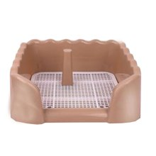 Dog Toilet Puppy Dog Brown Pet Potty Patch Training Pad Pet Supplies 40 X 40 CM