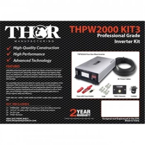 Thor THPW3000 PRO KIT 15 ft. of 3-0 Cable Remote with 300 amp Fuse & 500 amp Isolator & TH-EXT 15 ft.