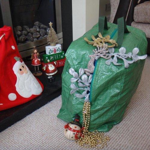 Yuzet JUMBO XMAS Christmas Decorations Storage Bag 50 X 37 X 24 Garland Lights Baubles