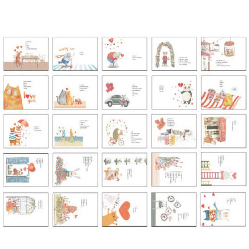 30 PCS 1 Set Beautiful Luminous Greeting Postcards Blessing Cards, No.9