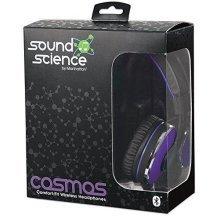 Manhattan Cosmos Comfort-Fit Lightweight Wireless Bluetooth Headphone - Purple