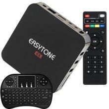 Easytone Google Android TV Box Quad Core Speed CPU 1GB/8GB WiFi 2.4GHz,4K Ultra HD, DLNA, Miracast Protocol 4K Smart TV Box + Wireless Mini Keyboard