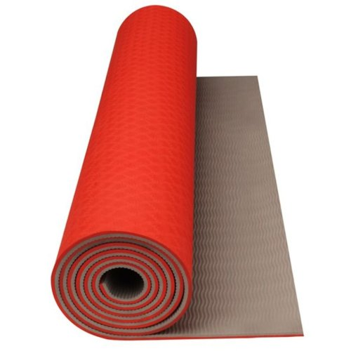 Avento Fitness/Yoga Mat Fluorescent Orange/Beige 41WC
