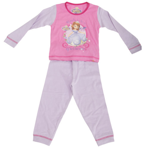 Disney Sofia The First Childrens Girls Long Sleeve Top & Bottoms Pyjama Set