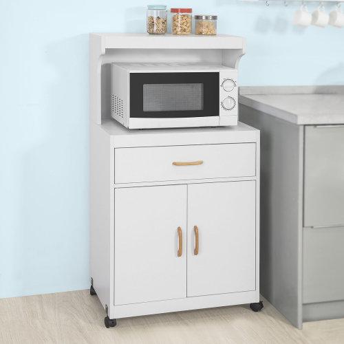 SoBuy® FSB12-W, Kitchen Storage Trolley Microwave Shelf Storage Cabinet Cupboard Sideboard