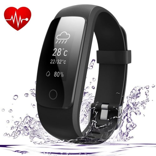 AndThere Fitness Tracker Heart Rate Monitor Bluetooth Smart Watch Activity Tracker Waterproof Wrist Pedometer Step Tracker Calorie Counter Sleep...