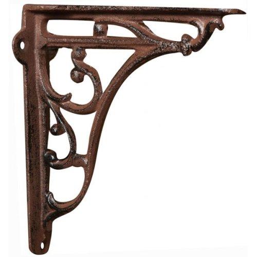 Cast Iron Made Antiqued Rust Finish  W18,5xp4,5xh18,5 Cm Sized Wall Shelf