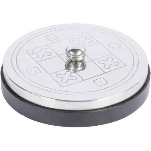 Libra Silver Top Noughts And Crosses Box Game Storage Trinket Gift