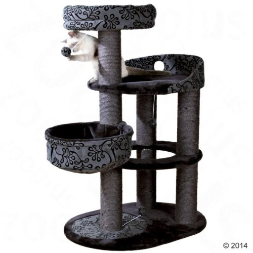 Filippo Cat Tree Black Sisal Scratching Post