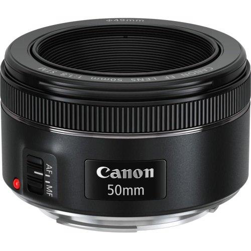 Canon EF 50mm f/1.8 STM AF Standard Lens - Black