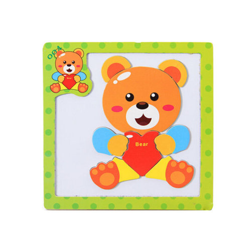 Wooden With Magnet Jigsaw Puzzle Children's Games Toys,Bear