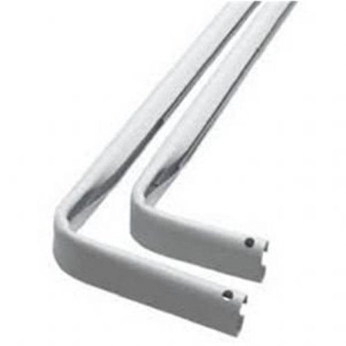 Kenney Manufacturing KNL545 46-84 in. White Hedge Heavy Duty Double Curtain Rod