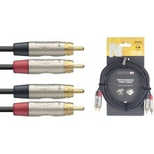 Stagg Ntc Dual Phono Cable (6m/20ft, Black) - Ntc6cr