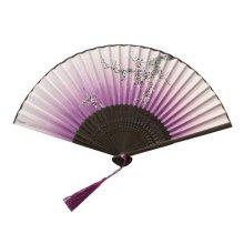 Chinese/Japanese Silk Handheld Folding Fan Folding Fan Fashion Handheld Fan
