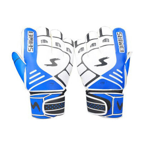 Cool Receiver Glove Latex Football Receiver Gloves for Adults, (White/Blue, M)