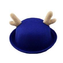 Kids Hats Deer Style Girls Boys blue Cute Caps Felt Hats