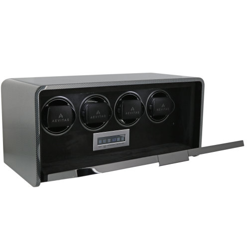 4 Watch Winder Carbon Fibre Finish the Premier Collection by Aevitas