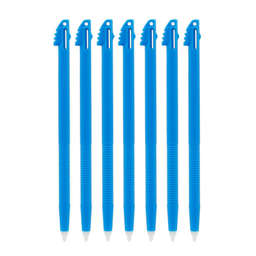 Stylus for Nintendo 3DS XL LL ribbed handle touch pen slot in - 7 pack Blue ZedLabz