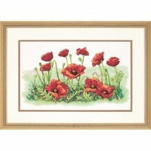 D03237 - Dimensions Stamped X Stitch - Field of Poppies
