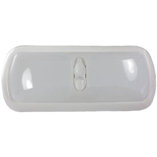 Double LED Euro Light with White Lens, Bright White