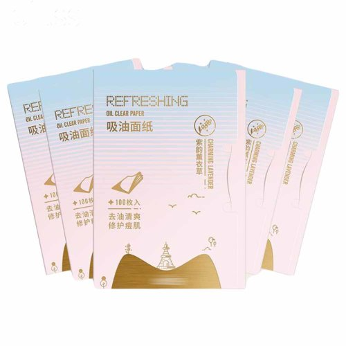 Lavender Portable Blotting Papers For Face, 500 Sheets