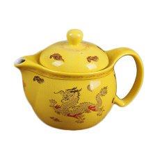 Old fashion Ceramic Creative Tea Kettle dragon yellow Tea pot