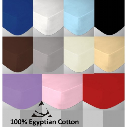 4 Foot Small Double Egyptian Cotton 200 Thread Count Fitted Bed Sheets