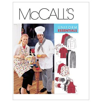 Misses' and Men's Jacket, Shirt, Apron, Pull-On Pants, Necke-LARGE -*SEWING PATTERN*