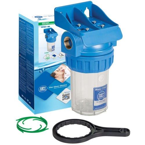 "5"" Three Part Filter Housing In-line Water Filtration Set 1/2""-1"" BSP Brass Insert"