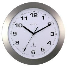 Acctim Cadiz Office Kitchen Radio Controlled Wall Clock - Silver