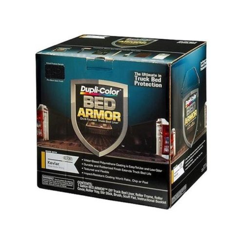 Dupli-Color-VHT BAK2010 128 oz Premium Truck Bed Liner with Kevlar Bed Armor Kit - Black