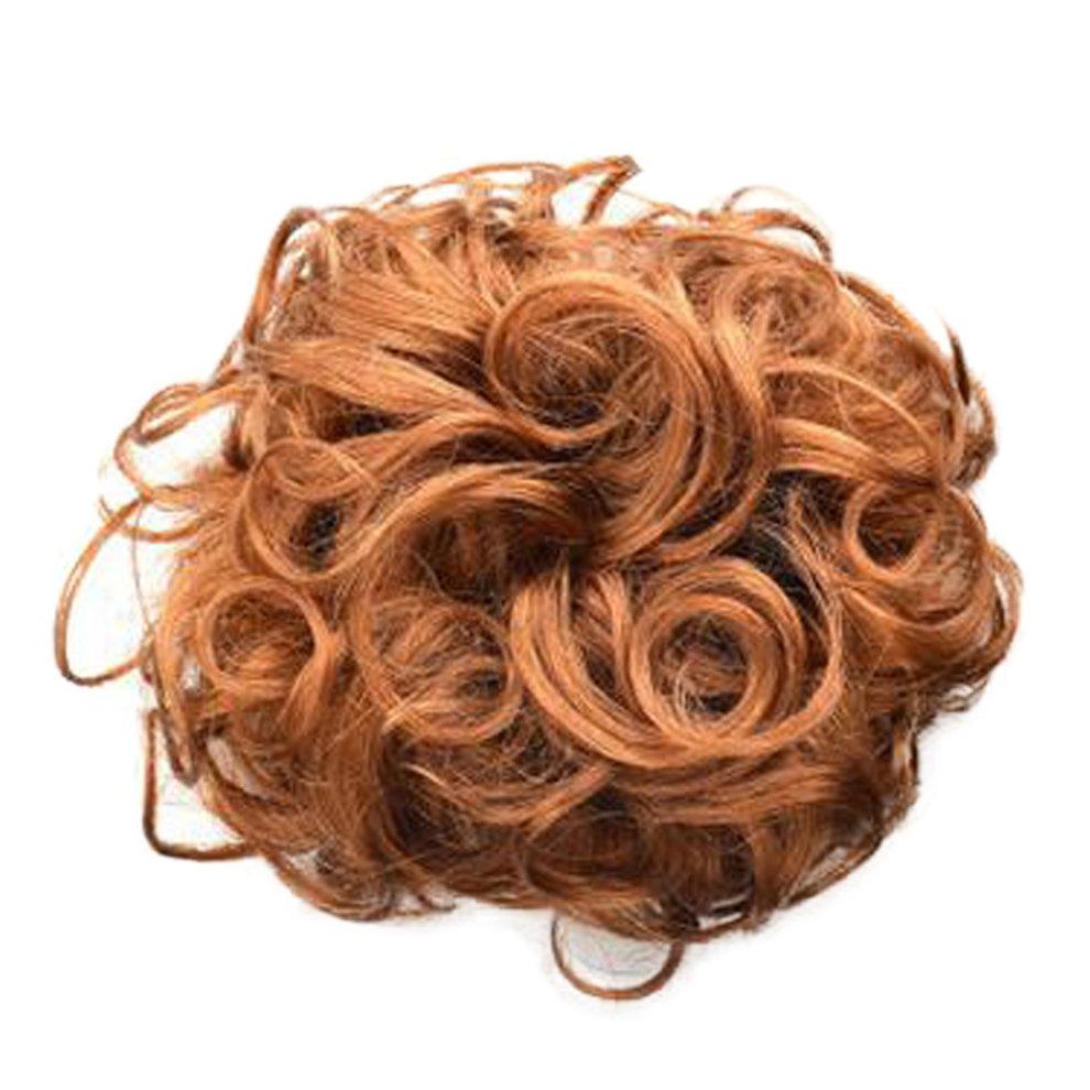 Smart Human Wavy Hair Bun Donut Hair Bun Extension For Women Light