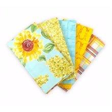 Fat Quarter Bundle - 100% Cotton - Sunny 1 - Pack of 5