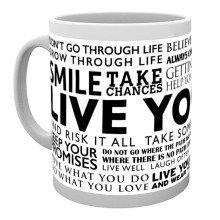 Live Your Life Quotes Mug