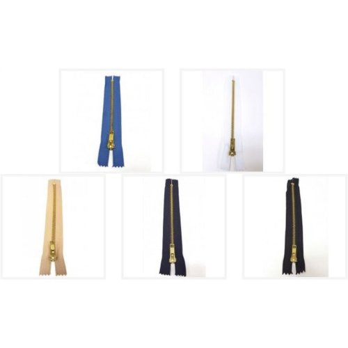 Closed End Nylon Auto-Lock Metal Jeans Zip - No. 5 - Choice of Sizes & Colours