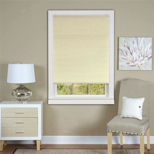 Honeycomb Cellular White Pleated Cordless Shade 33x64