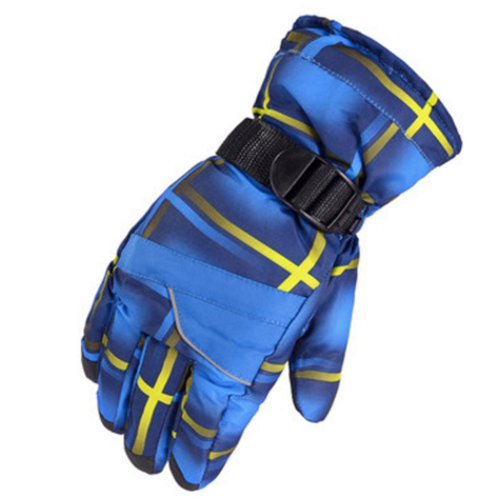 1 Pair Outdoor Winter Cycling Cold-proof Gloves Waterproof Skiing Gloves Warm Gloves,H