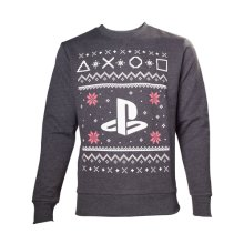 Sony Playstation Men's Logo Christmas Jumper, Large, Grey (Model No. SW501235SNY-L)
