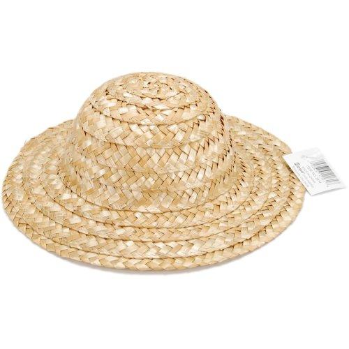 "Round Top Straw Hat-8.5""-9"" Natural"