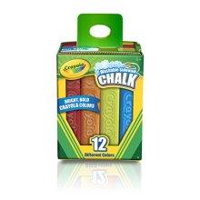 Crayola Washable Sidewalk Chalk, Assorted Colors 12 ea