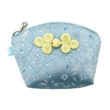 Set of 2 Traditonal Chinese Embroidered Jewelry Coin Pouch Bag Wallet Purses   N