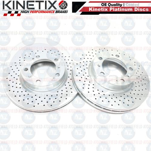 FOR PORSCHE BOXSTER CAYMAN 986 987 TARGA 911 FRONT DRILLED BRAKE DISCS PAIR