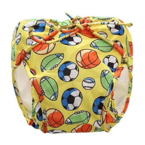 [Football-1] Reuseable Baby Swim Diaper Lovely Infant Swim Nappy Swimwear