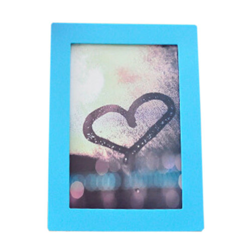 """Creative Lovely Silica Gel Decor Recycle Wall Photo Frames 4*5.9"""" BLUE"""