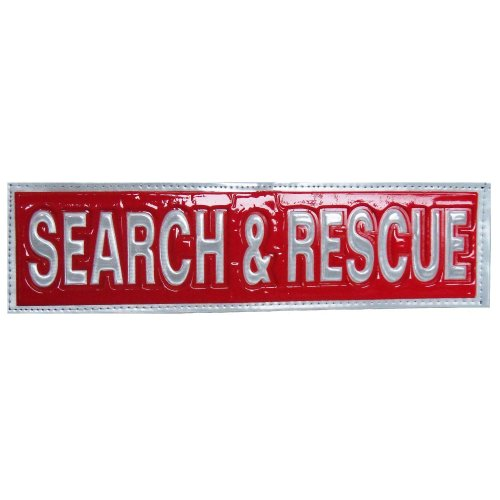Reflective SEARCH and RESCUE Patch -Red-10 x 3cm