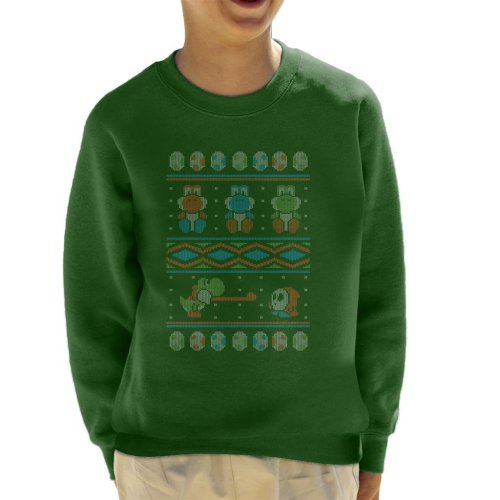 Super Mario Yoshi Knitted Jumper Pattern Kid's Sweatshirt