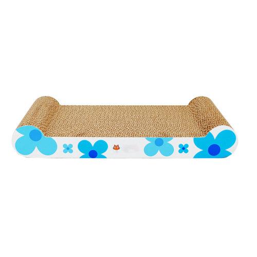 Sun Flower Series Corrugated Paper Cat Scratching Pad/Board,Cat Bed,BLUE