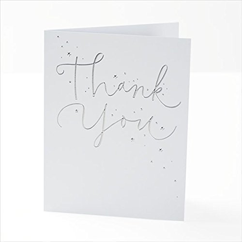 Foiled Finish Thank You Cards Pack of 10