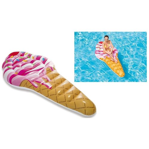 Intex Ride On Ice Cream Inflatable Pool Float Swimming Pool Lounger Water Beach